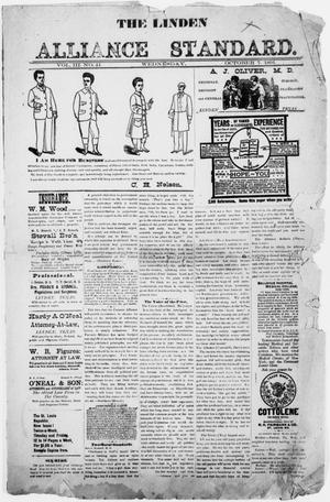 Primary view of The Linden Alliance Standard. ([Linden, Tex.]), Vol. 3, No. 41, Ed. 1 Wednesday, October 7, 1891