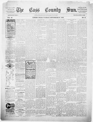 Primary view of object titled 'The Cass County Sun., Vol. 29, No. 36, Ed. 1 Tuesday, September 20, 1904'.