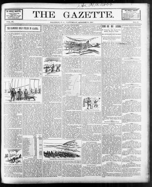 Primary view of object titled 'The Gazette. (Raleigh, N.C.), Vol. 9, No. 27, Ed. 1 Saturday, August 21, 1897'.