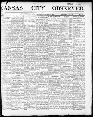 Primary view of object titled 'Kansas City Observer. (Kansas City, Mo.), Vol. 4, No. 36, Ed. 1 Saturday, January 27, 1900'.