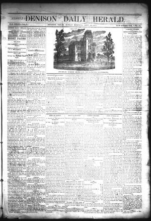 Primary view of object titled 'Denison Daily Herald. (Denison, Tex.), Vol. 1, No. 16, Ed. 1 Sunday, September 23, 1877'.