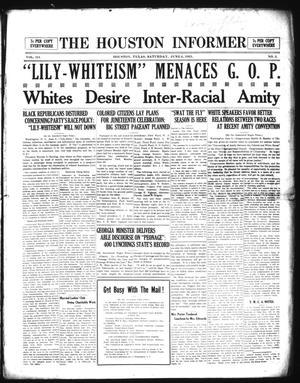 Primary view of The Houston Informer (Houston, Tex.), Vol. 3, No. 3, Ed. 1 Saturday, June 4, 1921