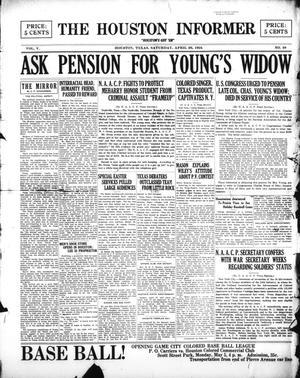 Primary view of The Houston Informer (Houston, Tex.), Vol. 5, No. 49, Ed. 1 Saturday, April 26, 1924