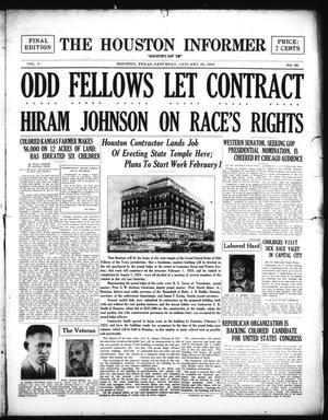 Primary view of The Houston Informer (Houston, Tex.), Vol. 5, No. 36, Ed. 1 Saturday, January 26, 1924