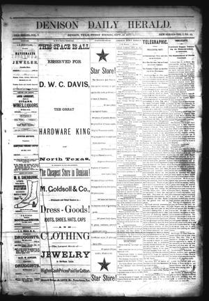 Primary view of object titled 'Denison Daily Herald. (Denison, Tex.), Vol. 1, No. 15, Ed. 1 Friday, September 21, 1877'.