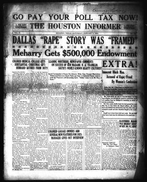 Primary view of The Houston Informer (Houston, Tex.), Vol. 2, No. 34, Ed. 1 Saturday, January 8, 1921