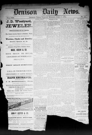 Primary view of object titled 'Denison Daily News. (Denison, Tex.), Vol. 8, No. 97, Ed. 1 Tuesday, June 15, 1880'.
