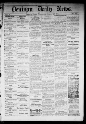 Primary view of object titled 'Denison Daily News. (Denison, Tex.), Vol. 5, No. 278, Ed. 1 Wednesday, January 23, 1878'.
