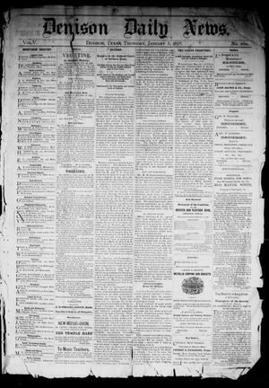 Primary view of object titled 'Denison Daily News. (Denison, Tex.), Vol. 5, No. 260, Ed. 1 Thursday, January 3, 1878'.