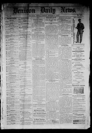 Primary view of object titled 'Denison Daily News. (Denison, Tex.), Vol. 5, No. 263, Ed. 1 Sunday, January 6, 1878'.