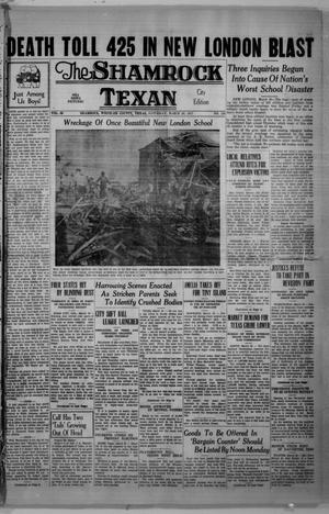 Primary view of object titled 'The Shamrock Texan (Shamrock, Tex.), Vol. 33, No. 249, Ed. 1 Saturday, March 20, 1937'.