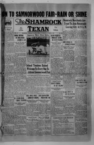 Primary view of object titled 'The Shamrock Texan (Shamrock, Tex.), Vol. 33, No. 131, Ed. 1 Thursday, October 8, 1936'.