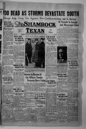 Primary view of object titled 'The Shamrock Texan (Shamrock, Tex.), Vol. 32, No. 284, Ed. 1 Monday, April 6, 1936'.