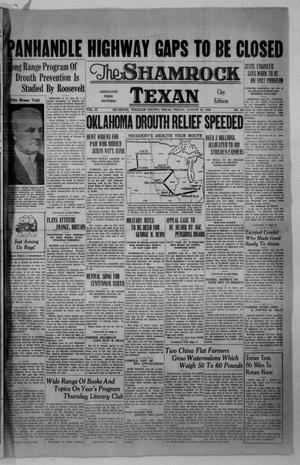 Primary view of object titled 'The Shamrock Texan (Shamrock, Tex.), Vol. 33, No. 96, Ed. 1 Friday, August 28, 1936'.