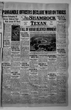 Primary view of object titled 'The Shamrock Texan (Shamrock, Tex.), Vol. 32, No. 295, Ed. 1 Saturday, April 18, 1936'.