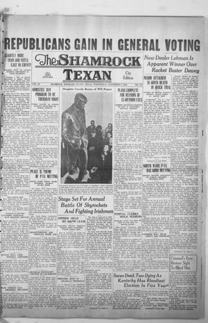 Primary view of object titled 'The Shamrock Texan (Shamrock, Tex.), Vol. 35, No. 156, Ed. 1 Wednesday, November 9, 1938'.
