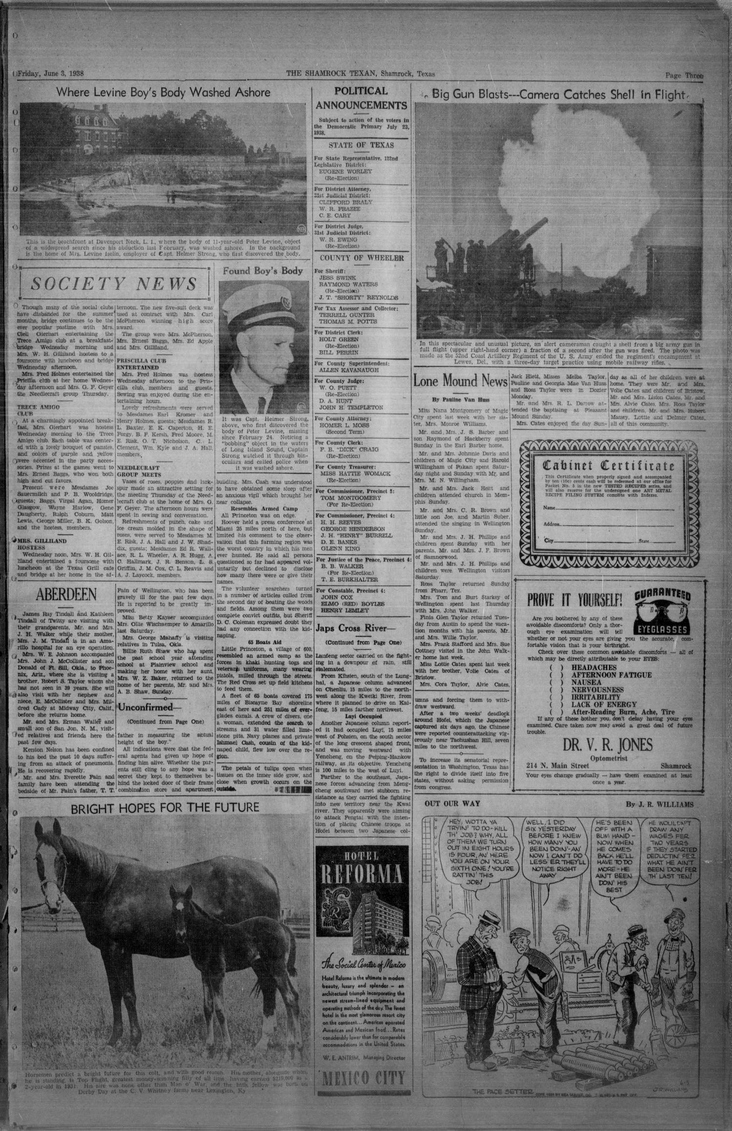 The Shamrock Texan (Shamrock, Tex.), Vol. 35, No. 22, Ed. 1 Friday, June 3, 1938                                                                                                      [Sequence #]: 3 of 4