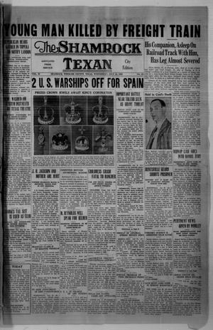 Primary view of object titled 'The Shamrock Texan (Shamrock, Tex.), Vol. 33, No. 63, Ed. 1 Wednesday, July 22, 1936'.