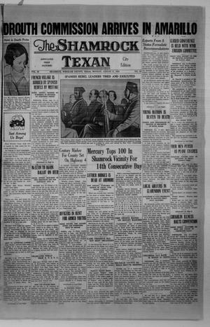 Primary view of object titled 'The Shamrock Texan (Shamrock, Tex.), Vol. 33, No. 86, Ed. 1 Monday, August 17, 1936'.