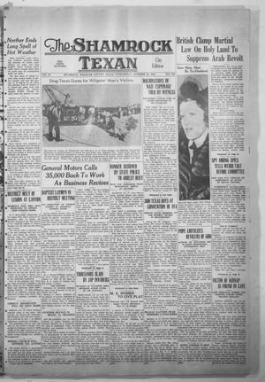 Primary view of object titled 'The Shamrock Texan (Shamrock, Tex.), Vol. 35, No. 139, Ed. 1 Wednesday, October 19, 1938'.