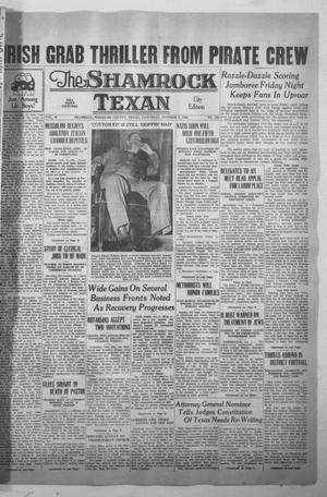 Primary view of object titled 'The Shamrock Texan (Shamrock, Tex.), Vol. 35, No. 130, Ed. 1 Saturday, October 8, 1938'.
