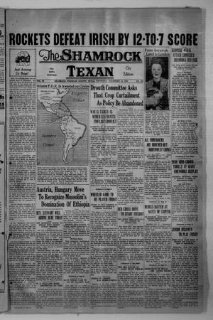 Primary view of object titled 'The Shamrock Texan (Shamrock, Tex.), Vol. 33, No. 161, Ed. 1 Thursday, November 12, 1936'.