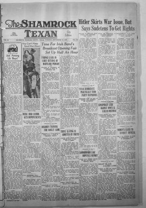 Primary view of object titled 'The Shamrock Texan (Shamrock, Tex.), Vol. 35, No. 108, Ed. 1 Tuesday, September 13, 1938'.