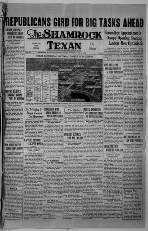 Primary view of object titled 'The Shamrock Texan (Shamrock, Tex.), Vol. 33, No. 27, Ed. 1 Tuesday, June 9, 1936'.