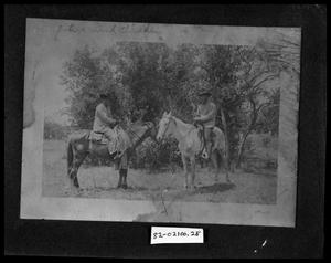 Primary view of object titled 'Two Men on Horses #2'.
