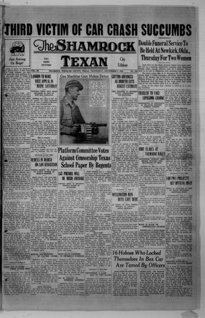 Primary view of object titled 'The Shamrock Texan (Shamrock, Tex.), Vol. 33, No. 106, Ed. 1 Wednesday, September 9, 1936'.