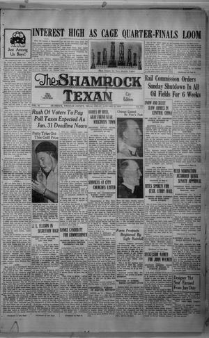 Primary view of object titled 'The Shamrock Texan (Shamrock, Tex.), Vol. 34, No. 217, Ed. 1 Friday, January 21, 1938'.