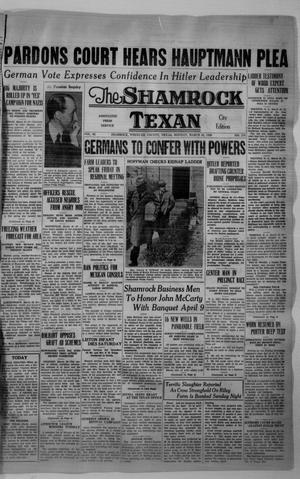 Primary view of object titled 'The Shamrock Texan (Shamrock, Tex.), Vol. 32, No. 278, Ed. 1 Monday, March 30, 1936'.