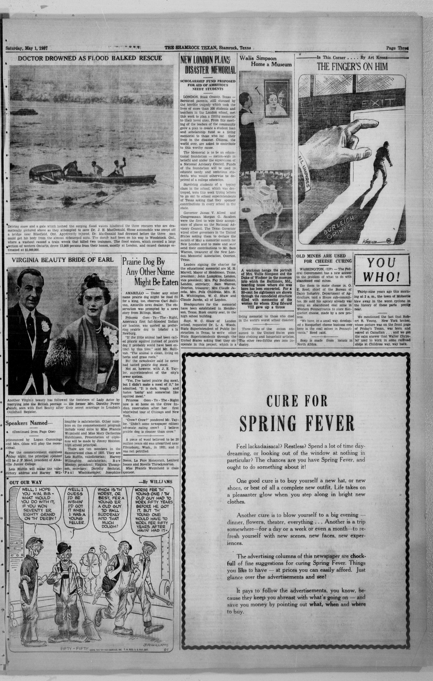The Shamrock Texan (Shamrock, Tex.), Vol. 33, No. 285, Ed. 1 Saturday, May 1, 1937                                                                                                      [Sequence #]: 3 of 4