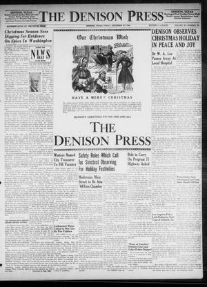 Primary view of The Denison Press (Denison, Tex.), Vol. 20, No. 26, Ed. 1 Friday, December 24, 1948
