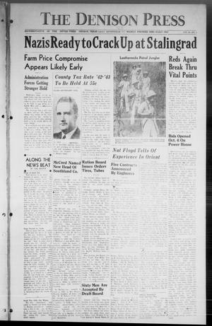 Primary view of The Denison Press (Denison, Tex.), Vol. 14, No. 2, Ed. 1 Friday, September 25, 1942
