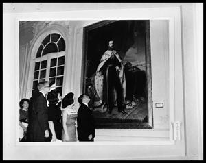 Primary view of object titled 'People Admiring Painting'.