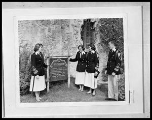 Primary view of object titled 'Four Students in Uniform by Window'.