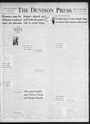 Primary view of object titled 'The Denison Press (Denison, Tex.), Vol. 32, No. 11, Ed. 1 Friday, September 18, 1959'.