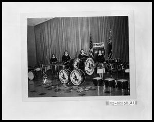 Primary view of object titled 'Four Students With Drums'.