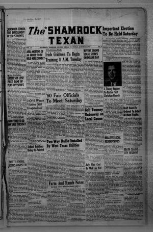 Primary view of object titled 'The Shamrock Texan (Shamrock, Tex.), Vol. 47, No. 15, Ed. 1 Thursday, August 10, 1950'.