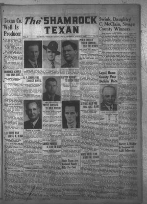 Primary view of object titled 'The Shamrock Texan (Shamrock, Tex.), Vol. 43, No. 13, Ed. 1 Thursday, August 1, 1946'.
