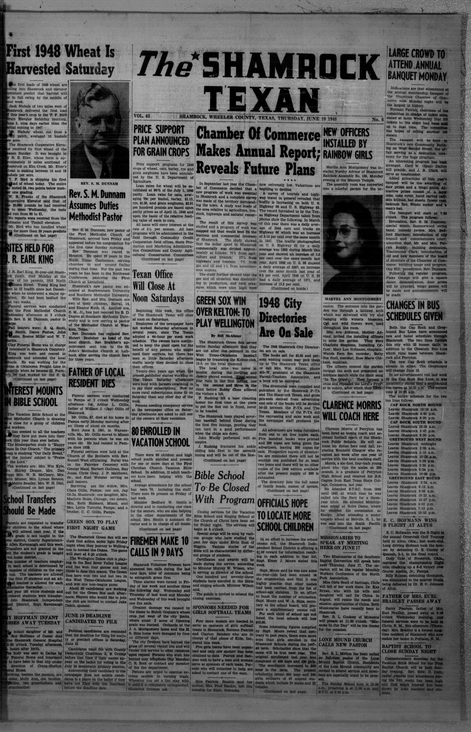 The Shamrock Texan (Shamrock, Tex.), Vol. 45, No. 6, Ed. 1 Thursday, June 10, 1948                                                                                                      [Sequence #]: 1 of 14