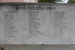 Primary view of object titled 'Honor Roll World War II, Nolan County'.