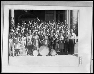 Primary view of object titled 'Group Picture of Girls Band'.