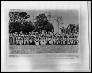Primary view of object titled 'HSU Cowboy Band in Uniform'.