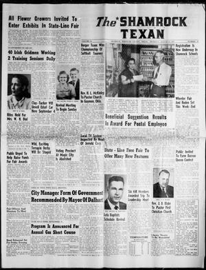 Primary view of object titled 'The Shamrock Texan (Shamrock, Tex.), Vol. 54, No. 19, Ed. 1 Thursday, August 29, 1957'.
