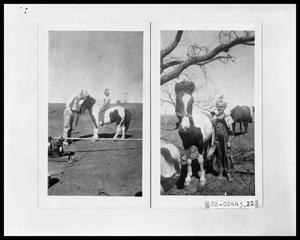 Primary view of object titled 'Man, Girl, Pony, and Irrigation Pump'.