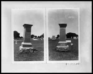 Primary view of object titled 'Headstone, Cemetery'.
