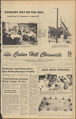 Primary view of Cedar Hill Chronicle (Cedar Hill, Tex.), Vol. 14, No. 44, Ed. 1 Thursday, July 6, 1978