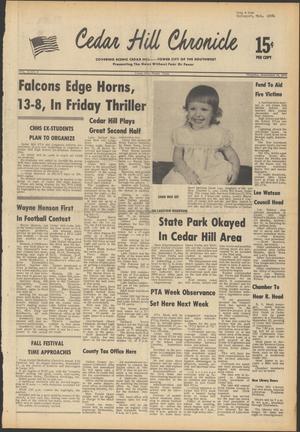 Primary view of Cedar Hill Chronicle (Cedar Hill, Tex.), Vol. 12, No. 4, Ed. 1 Thursday, September 18, 1975